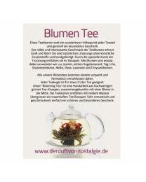 Tee Blumen Karten 50 st