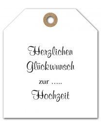 Black & White mini DE 17 Herzlichen Glückwunsch zur .. Hochzeit