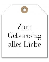 Black & White mini DE 09 Zum Geburtstag alles Liebe