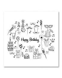 SOHO Vierkant 10 Happy Birthday