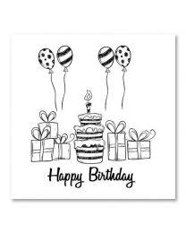 SOHO Vierkant 17 Happy Birthday